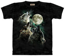 THREE WOLF MOON T-Shirt - The Mountain Wolves - 100% Cotton Tie-Dye Tee