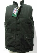NEW WAX GILET BODYWARMERS OILED CHECK LINING HUNTING FISHING FARMING S-5XL