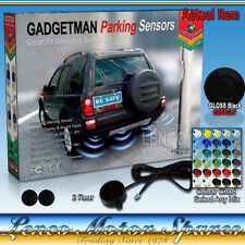2 Rear Reversing Parking Sensors Kit with Audio Sound Warning 30 Colour Choices