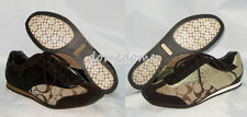 Coach KODIE Signature CC Khaki Brown Gold Tennis Sneakers Shoes 7.5 8 8.5 NEW