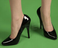 Pleaser Large Size Womens Shoes Black Patent with a 6 inch heel sizes UK9 to 13