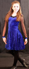 CELTIC-IRISH Dance/Lyrical DELUXE IRISH BLUE DANCE DRESS all Ages Great Outfit