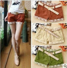 Women Lace Flange Casual Shorts Jeans low waisted Pants Short Jeans S M L XL Y
