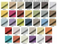 Made to measure roller blinds Polaris plain fabric Scallopes and Poles available