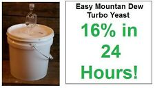 (1) Pack - Easy Mountain Dew Turbo Yeast - Moonshine Alcohol Whiskey Rum Vodka
