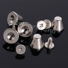 Silver Mushroom Screw Spike Metal Studs Rivet Spots Cone Punk Leathercraft Diy