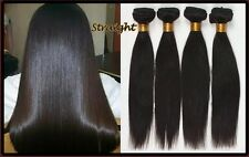 Unprocessed 100% Virgin Brazilian Remy Human Weft hair extension 1B  AAAAA