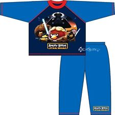 Boys Angry Birds Star Wars Long Cotton Pyjamas Ages 4-10 Years Jedi Vader