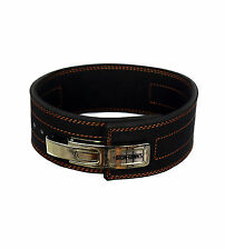 SUPER 13mm LEVER LEATHER WEIGHTLIFTING BELT POWERLIFTING GYM BODYBUILDING #038