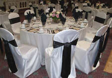 1 sample Round / square top satin Banquet Chair Covers for wedding Restaurant