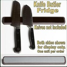 "KNIFE BUTLER FRIDGE ""PRO"" 2 Sided 11"" ALL RUBBER Magnetic Knife Rack"