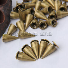 13mm Bronze Cone Screw Metal Studs Leathercraft Rivet Bullet Spikes Punk Spots