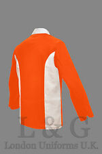 ORANGE / WHITE COMBINED CHEF JACKET L&G LONDON UNIFORMS U.K.