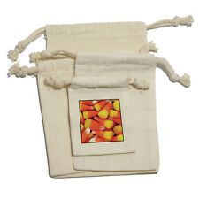 Candy Corn Awesomeness - Halloween Muslin Cotton Gift Party Favor Bags