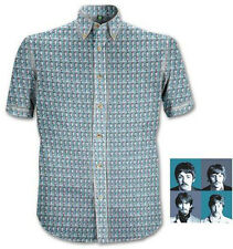 The Beatles: 1967 Heads Pattern Short Sleeve Shirt - Brand New & Sealed in Pack