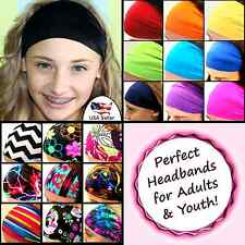 Spandex Hair Head Bands. Dance Cheer Fitness Workout Sports Yoga Fashion. Wide