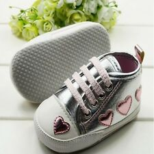 Infant Toddler Baby Girl Flexible Warm Soft Crib Heart Pattern Shoes US Size3-5