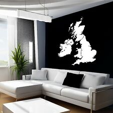 UK GREAT BRITAIN UNITED KINGDOM MAP  IRELAND vinyl wall art sticker