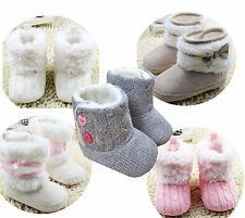 Infant Toddler Baby Cotton Crib Shoes walking Sneaker Knitted/Crocheted boots