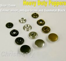 Heavy Duty Poppers Fastener Snap Press Stud Sewing Rivet Leather Craft Clothing