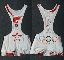 Custom Mens Wrestling Trunk Save Olympic  Wrestling Singlet Gym Outfit