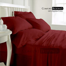 Best Price 1000TC Luxurious Hotel Brand Burgundy Bedding Set 100%Egyptian Cotton