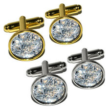 Loose Diamonds (Image Only) Round Cufflink Set