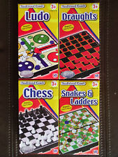 Magnetic Travel games pocket size ludo/chess/draughts/snakes and ladders new