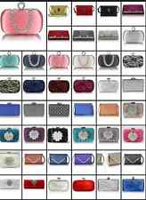 Ladies Fashion Designer clutch bag evening night out purse blogger wedding prom