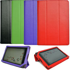 Genuine Leather Case Cover Folio for Barnes Noble Nook HD+ Plus 9 inch Tablet