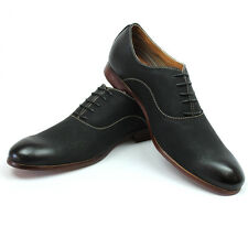 New Men's Black Ferro Aldo Shoes Round Toe Oxfords Casual Lace Up Denim Friendly