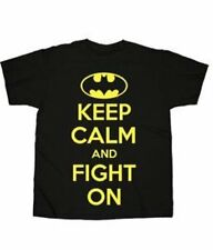 Batman Keep Calm And Fight On Licensed DC Comics Adult T-Shirt S M L XL 2XL 3XL