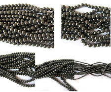 "16"" Hematite Round Beads 10mm, 8mm, 6mm, 4mm or 2mm- Choose Your Size"