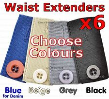 Skirt Trouser Jeans Button WAIST Expanders EXTENDER 6 PACK WEIGHT GAIN PREGNANCY