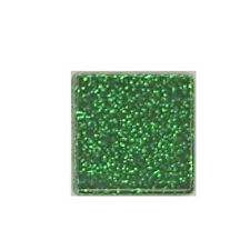 1/2 LB EMERALD GLITTER CRYSTAL TILES
