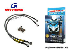 Goodridge Suzuki GSXR750 11 Front Braided Brake Lines Hoses Stainless Steel
