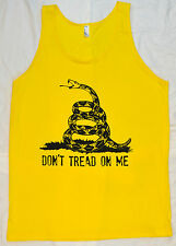Don't Tread on Me Yellow Tank Top T Shirt Tea Party Gadsen Flag American Apparel