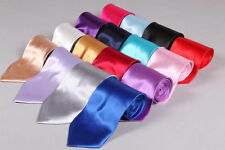 """New Mens Sexy Italian Satin Finish 56"""" Normal Neck Tie-All Colors"""