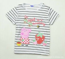 "NEW ""Peppa Pig"" Girls Stripes Cute Top/ T-Shirt (2-3Y,4-5Y,5-6Y)"