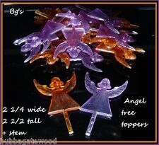 •VINTAGE ANGEL TREE TOPPERS NEW CERAMIC CHRISTMAS TREE LIGHTS star twist toys