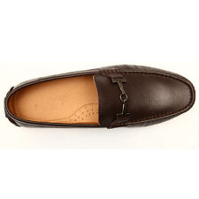 US5-10 Leather Casual SLIP-ON Buckle Driving loafers mens business shoes  [JG]