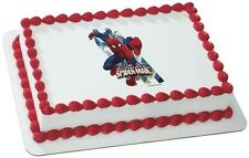 Spiderman Edible Cake or Cupcake Toppers Decoration by DecoPac Ultimate Marvel