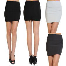 MOGAN S~3X SEXY Stretch High Waisted Pencil Straight Mini Skirt Casual to Forma