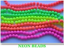 30 x NEW Fluorescent Neon Glass Beads Round 8mm  ! CHEAPEST ON EBAY !