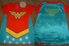 Wonder Woman Glitter Dc Comics Costume With Cape Womens V-Neck T-Shirt
