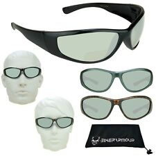 Motorcycle Riding BIFOCAL Reading Sun Glasses Tinted Lens 100 150 200 300 Sports