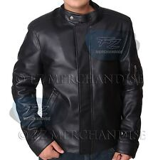 NEW REPLICA CALIFORNICATION HANK MOODY GENUINE LAMBSKIN BLACK LEATHER JACKET