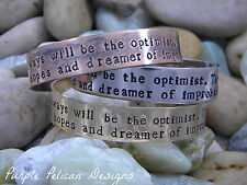Dr. Who inspired bracelet - I am and always will be the optimist...
