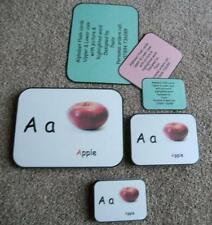 Alphabet also with Vowels and Numbers 0 - 20 Flash cards in colour, 3 sizes