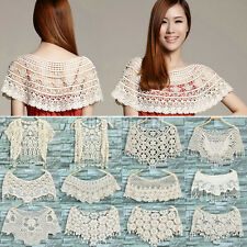 Women Hollow Out Lace Crochet Knit Cape Jumper Tank Top Vest Pullover Shawl